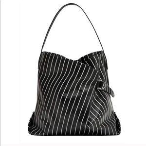 ZARA Woman Striped Hobo Tote Bag
